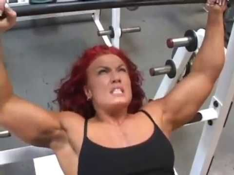 muscle woman hard workout and steel bending  youtube