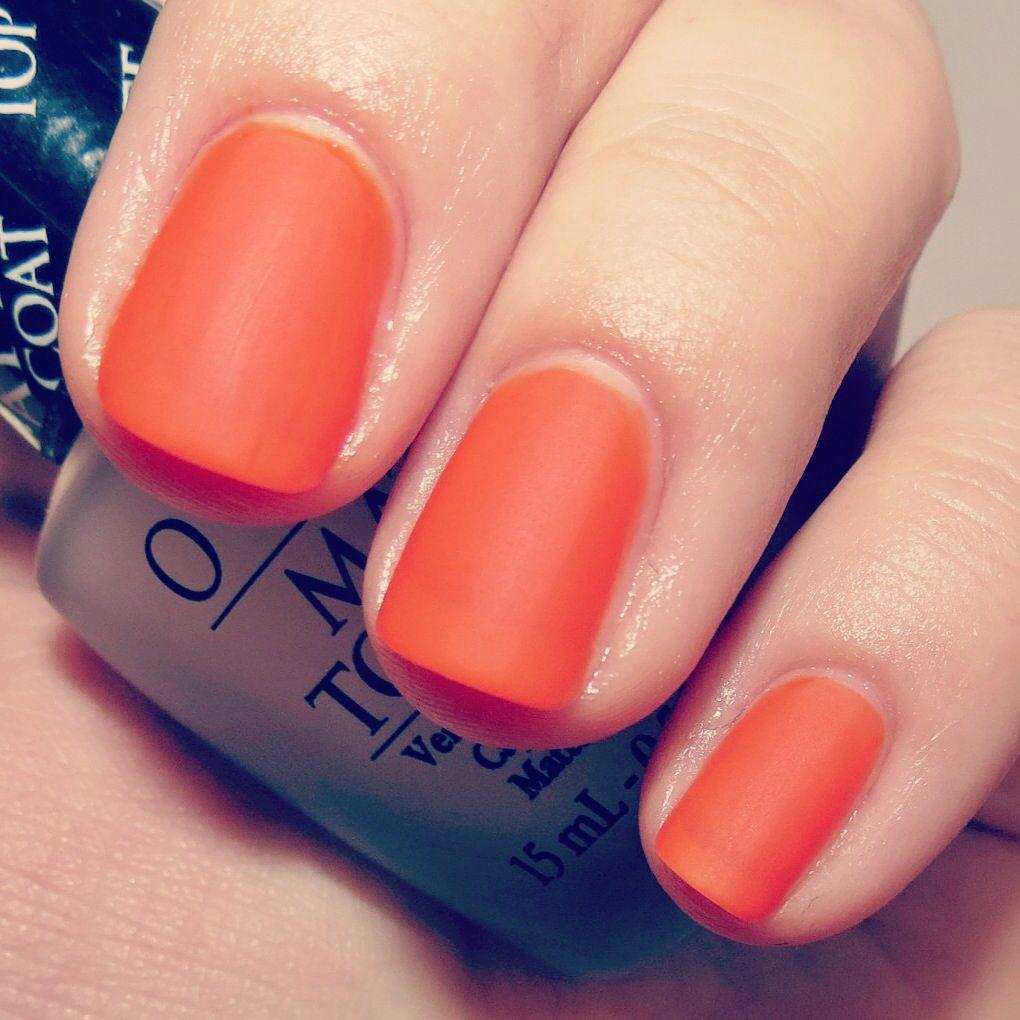 Naranja mate | Tus Uñas Tu Estilo | Pinterest | Naranja, Mani y Pide