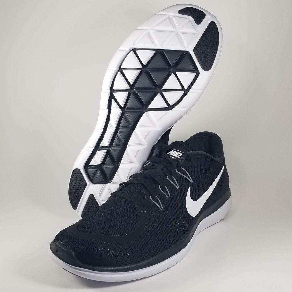 2d2844f8422f Nike Flex 2017 RN Men s Shoes Black White-Anthracite Size 11.5