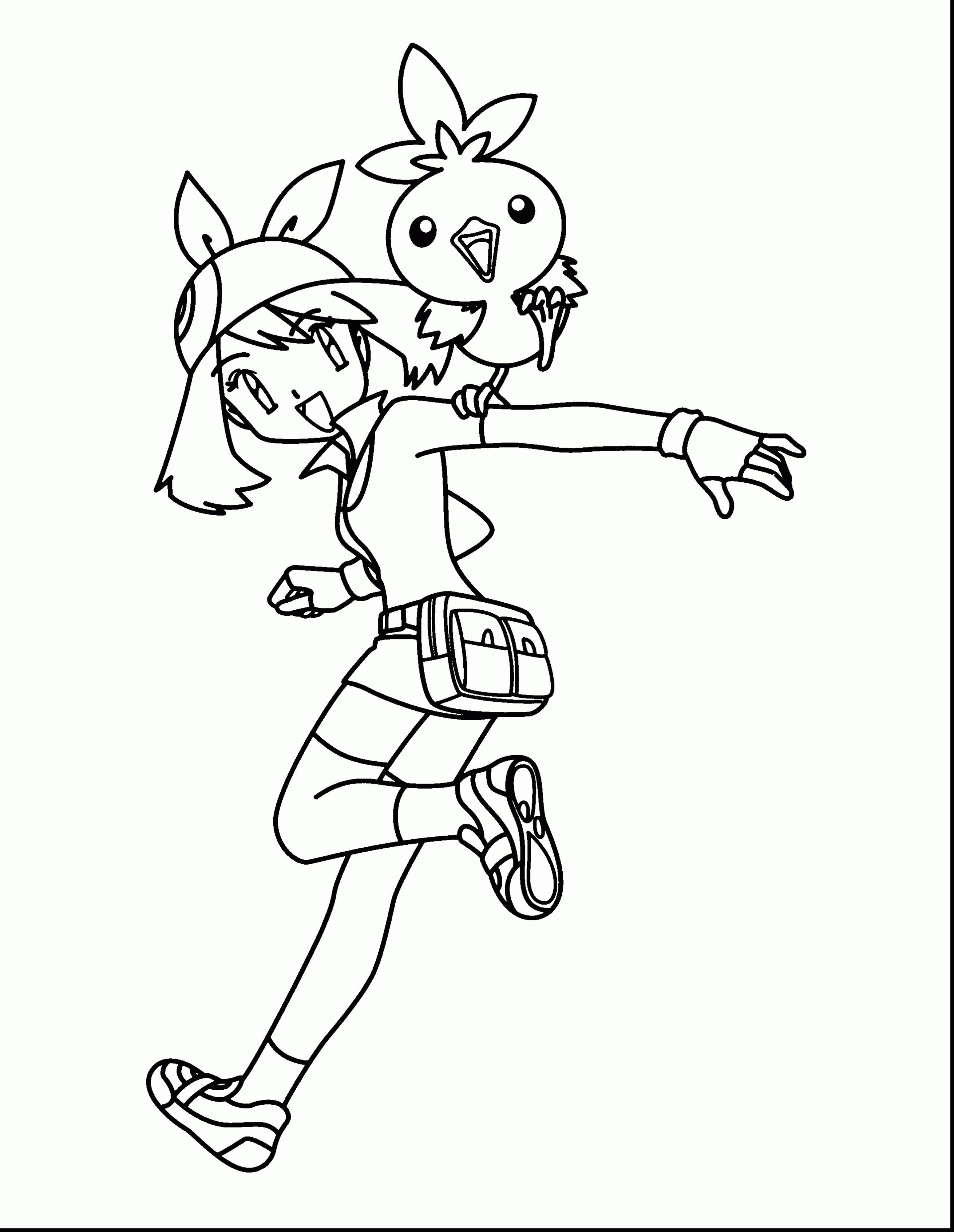 Pokemon May Coloring Pages Through The Thousand