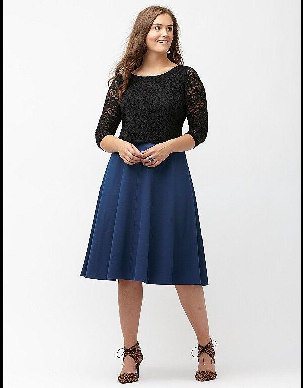 ddf414a6916 Plus Size Skirts. Lane bryant ponte circle skirt