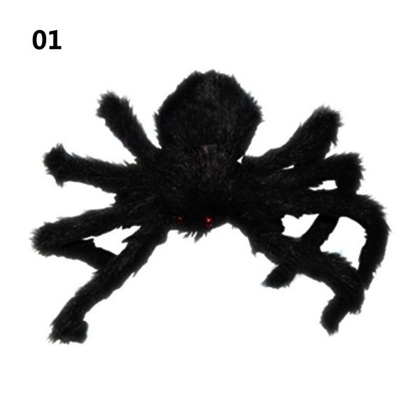 30/50/75cm Large Spider Made Of Wire And Plush Two Style Funny Toy - spiders for halloween decorations