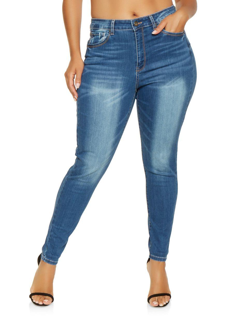 3fb73f3884d Plus Size WAX Push Up Skinny Jeans -