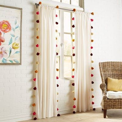 Photo of How festive! Our ombre tassel curtain has trendy tassels on both …