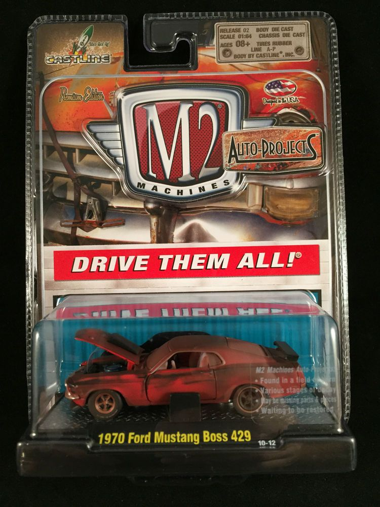 M2 Machines Auto Projects Release 2 1970 Ford Mustang Boss 429 Clamshell Sealed Mustang Mustang Boss 1970 Ford Mustang