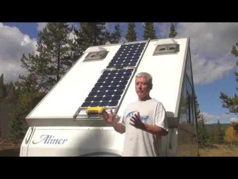 Adding Solar Panels To An Aliner Youtube A Frame Camper Aliner Campers Remodeled Campers