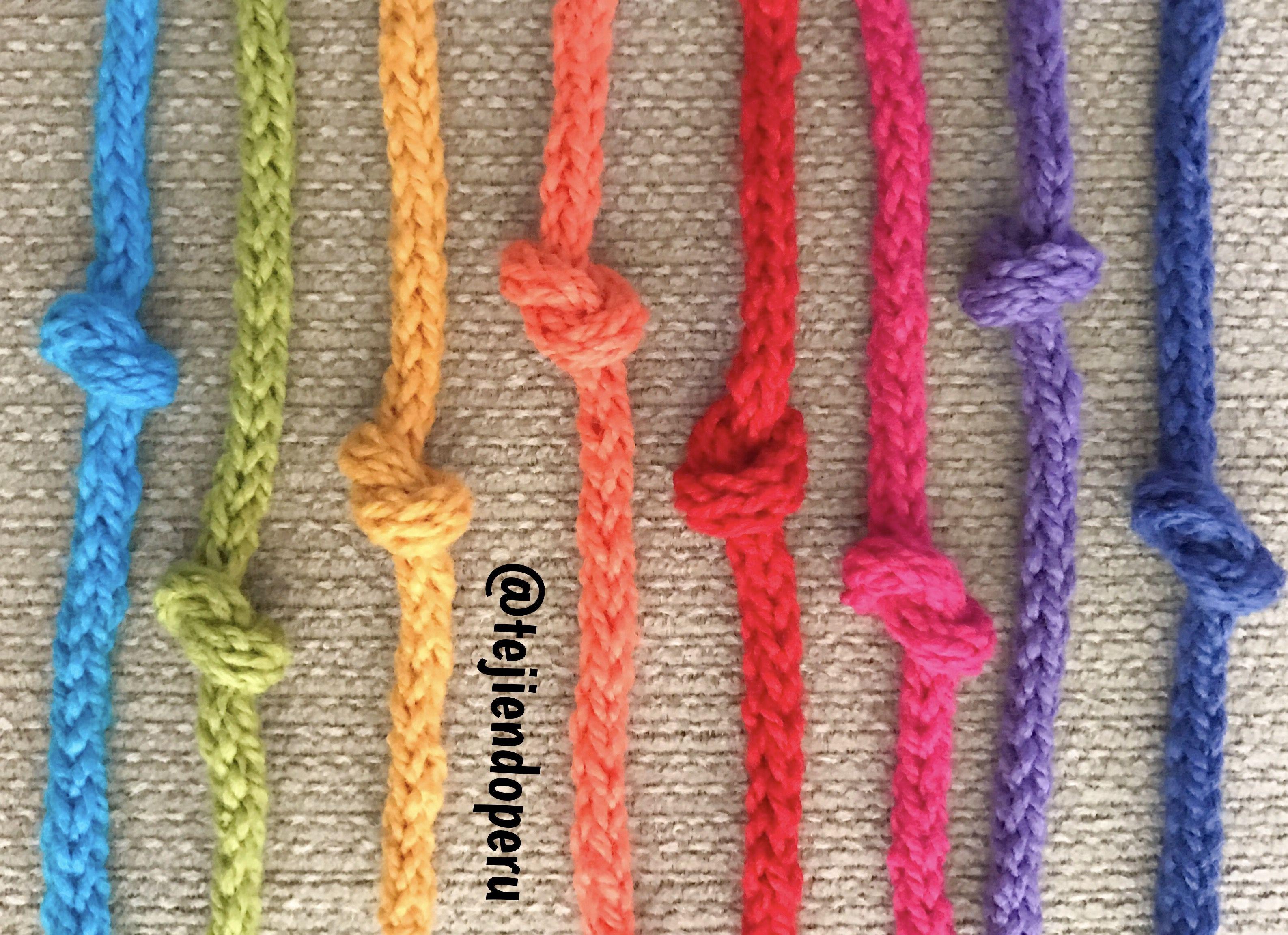 Como tejer Icord o cordón tubular a crochet | ganchillo | Pinterest ...