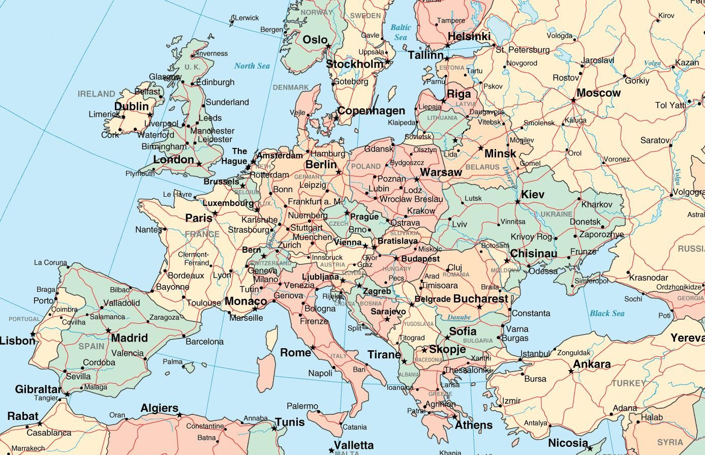 Europe Cities Map Uptowncritters And City | Kostenlos, Der ...