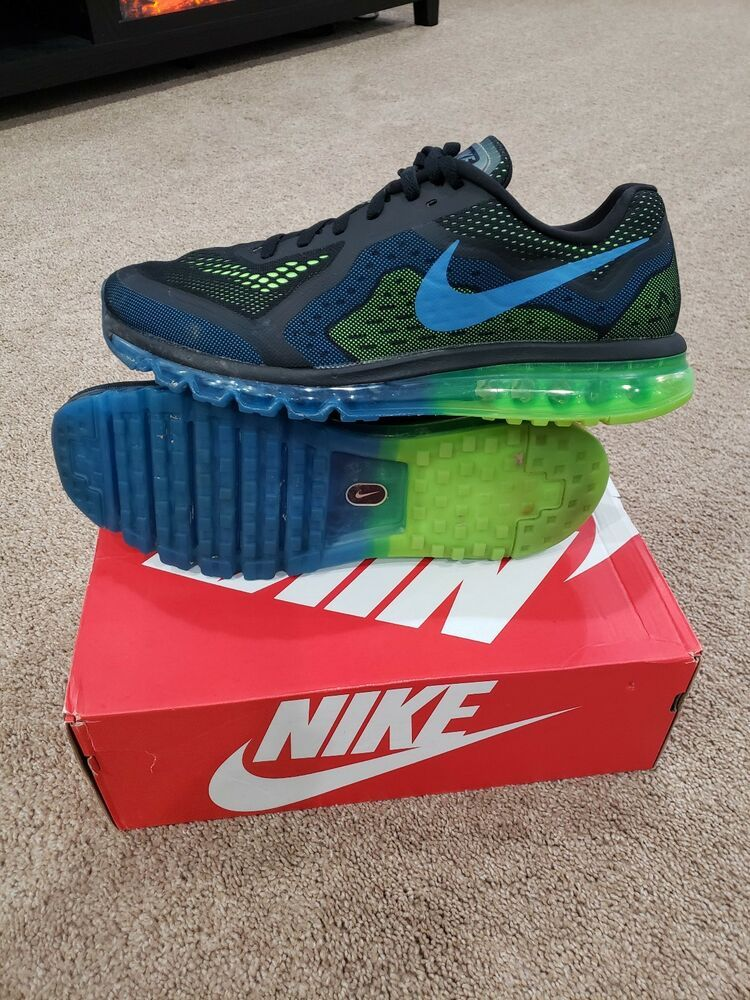 save off 59afb 2cd06 Nike Air Max 2014 size 14 Black Electric Green  621077-005 Running Sneakers   fashion  clothing  shoes  accessories  mensshoes  athleticshoes (ebay link)