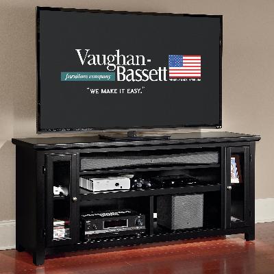 50 656 Vaughan Bassett Furniture Casual Black 66in Sound Bar