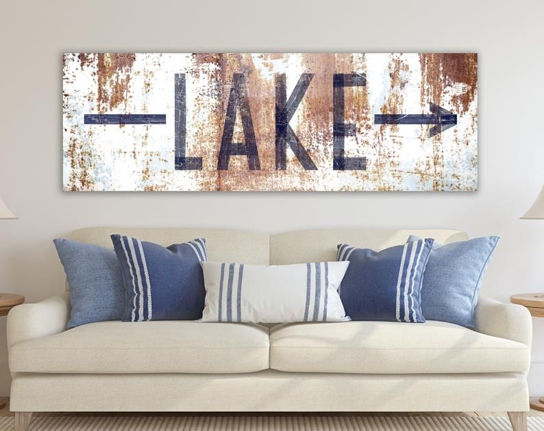 Lake House Decor Lake Life Sign Summer Cabin Cottage Home Etsy In 2021 Farm House Living Room Industrial Farmhouse Living Room Country House Decor