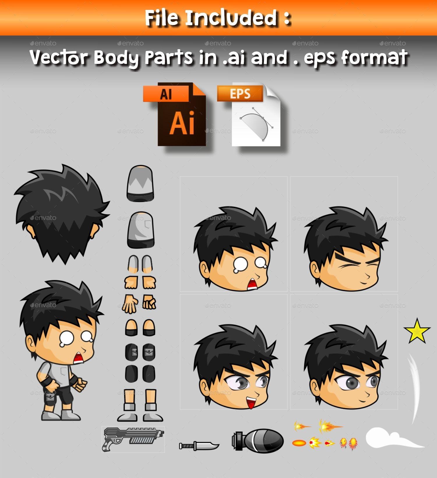 Nanz 2d game character sprite ad game spon nanz