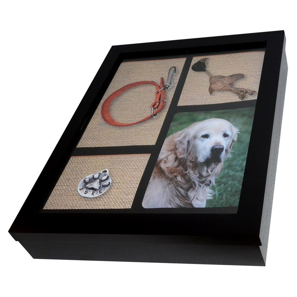 Pet Memorial Shadow Box With Urn Pet Urns Dog Shadow Box