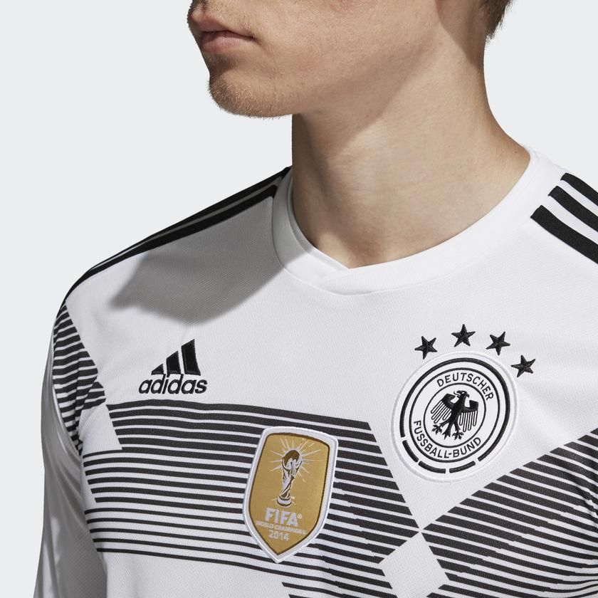 05c15be5184 ADIDAS JULIAN DRAXLER GERMANY LONG SLEEVE HOME JERSEY FIFA WORLD CUP 2018-  White Black A GERMANY LONG SLEEVE HOME JERSEY WITH THE BEATING HEART OF A  ...