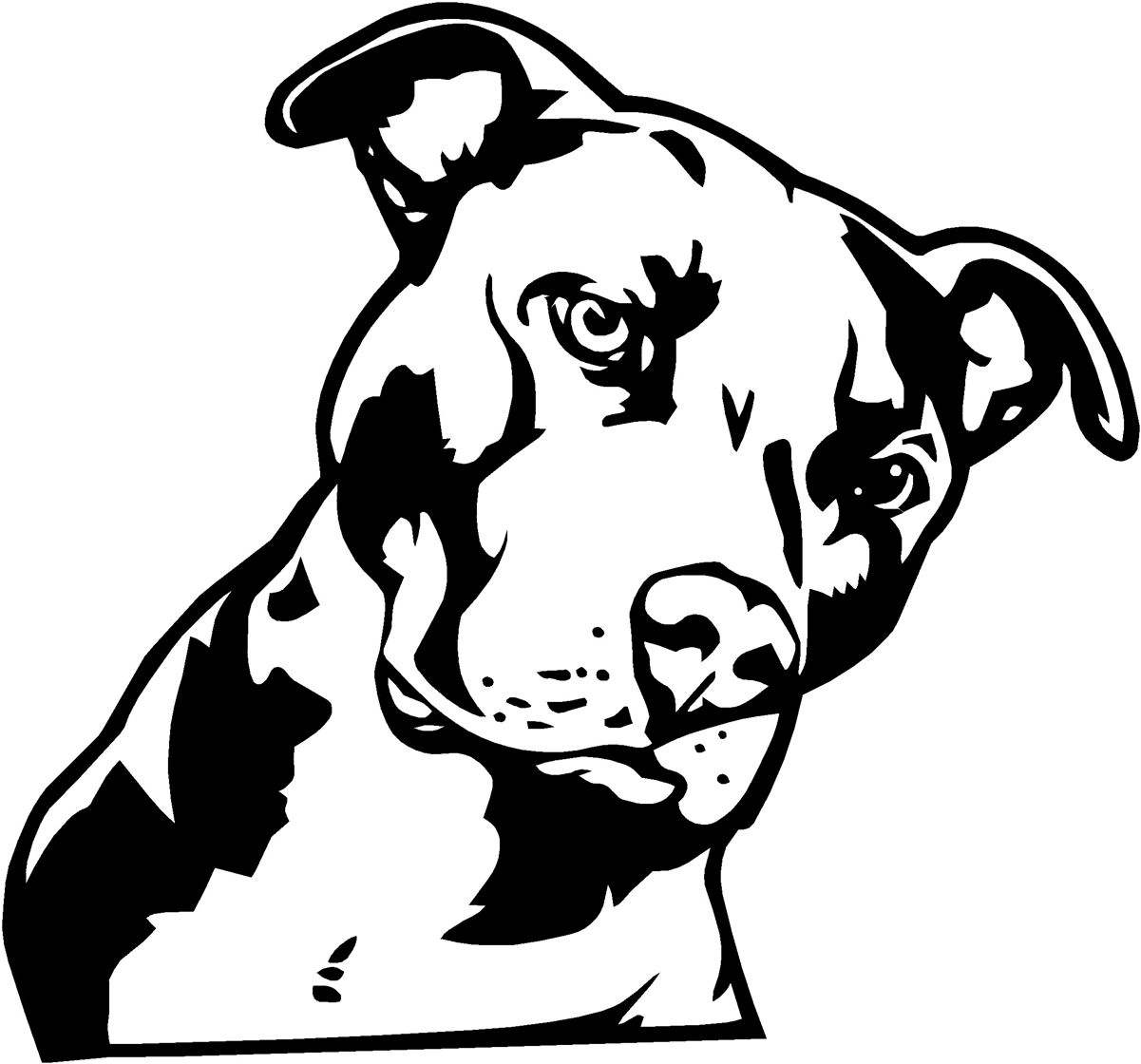 Pitbull Dog | Richmond virginia, Leather tooling patterns and Glass ...