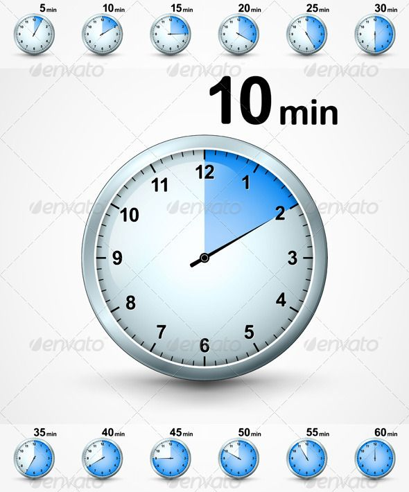 set of timers  graphicriver set of timers  5  10  15  20  25  30  35  40  45  50  55  60 minutes