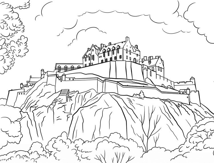 free printable castle coloring pages.html