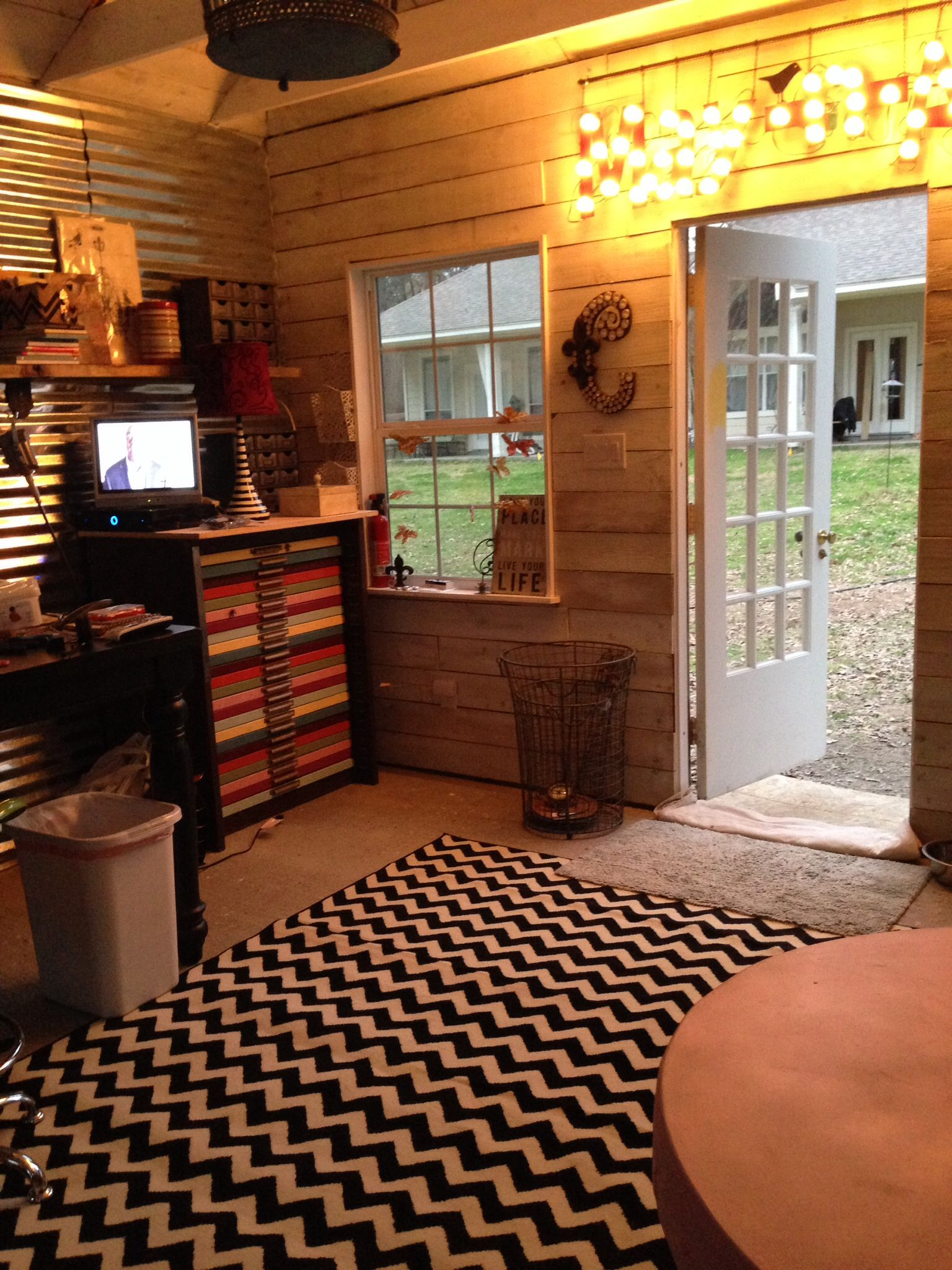 interior of my very own garden shed studio