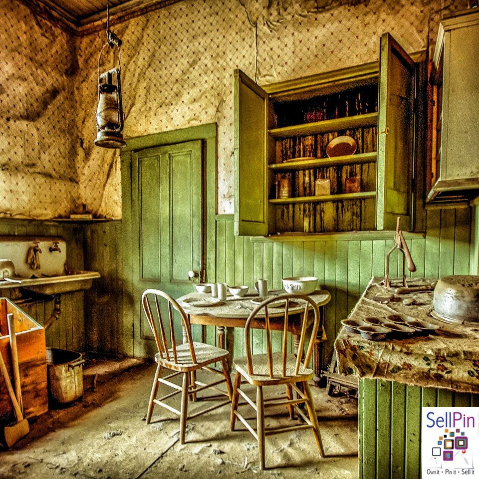 $27.50: Kitchen Photography, Country Kitchen, Shades of Green, Soft ...