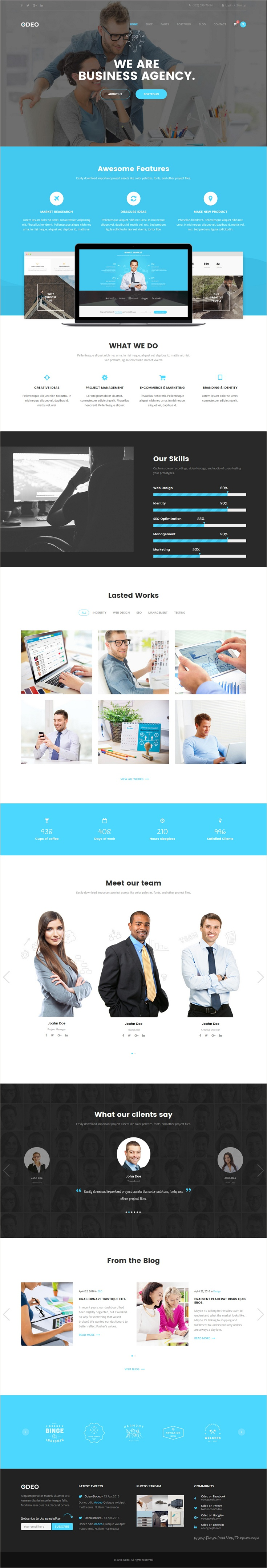 Odeo is a clean and professional 10 in 1 bootstrap #HTML #theme for Business, Photo Studio, #Freelancers, Portfolio, Personal, Medicine, Travel, Creative Agency, Corporate, Blog, Interior or eCommerce website download now➩ https://themeforest.net/item/odeo-multipurpose-business-html-template/18545321?ref=Datasata