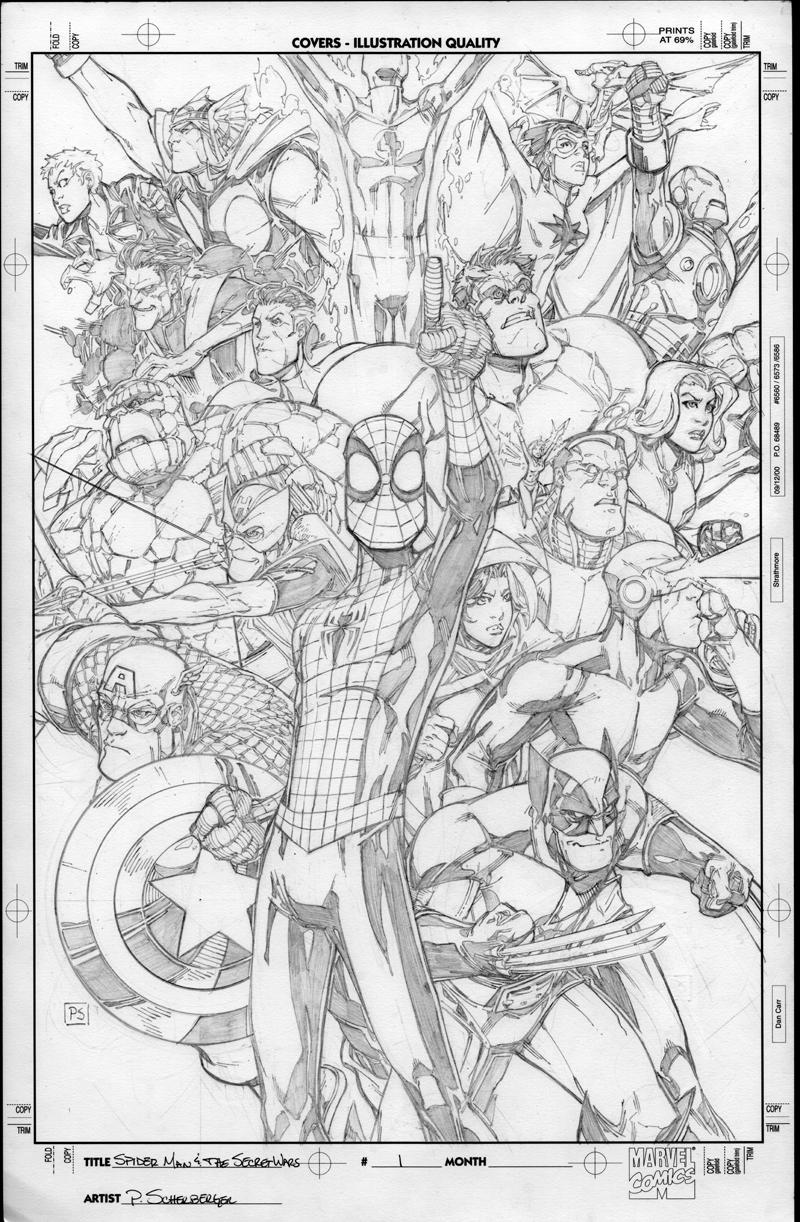 Spidey And The Secret Wars 1 By Pscherberger On Deviantart Spiderman Art Comic Book Artwork Art