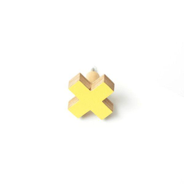 Little Cross Wall Hook - Sunshine Yellow