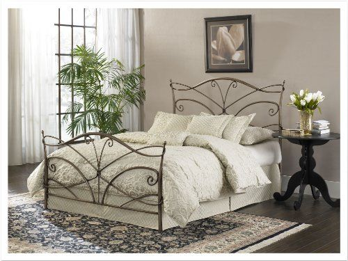 Leggett & Platt Fashion Bed Group Papillion Brushed Bed Frame, Queen, Bronze leggett & platt - home textiles