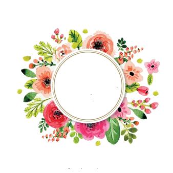 Pin On Watercolor Flowers Corona De Flores Png