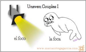 Uneven Couples In Spanish Vocabulario Espanol Vocabulario Foca