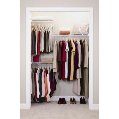 Closetmaid 3 Ft To 5 Ft Closet Organizer Kit 1640 The Home Depot Closet Organizer Kits Wire Closet Organizer Closet Organization
