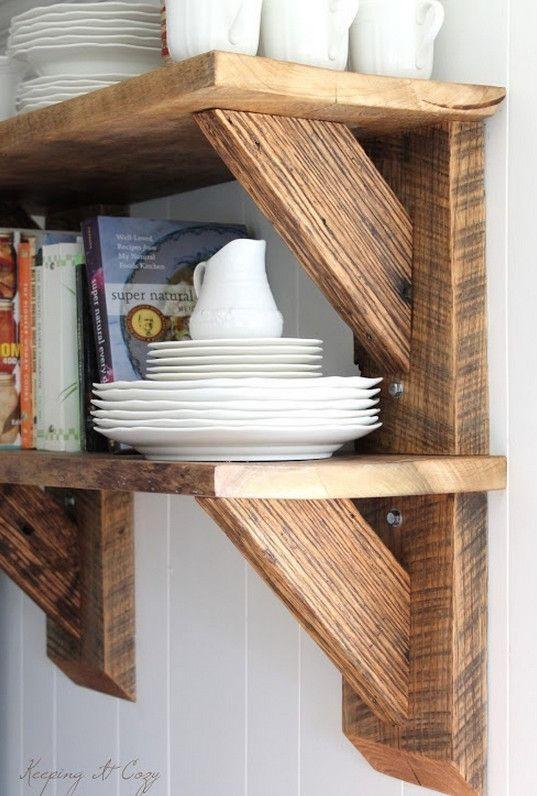 diy reclaimed wood shelves Kitchen Pinterest Reclaimed wood