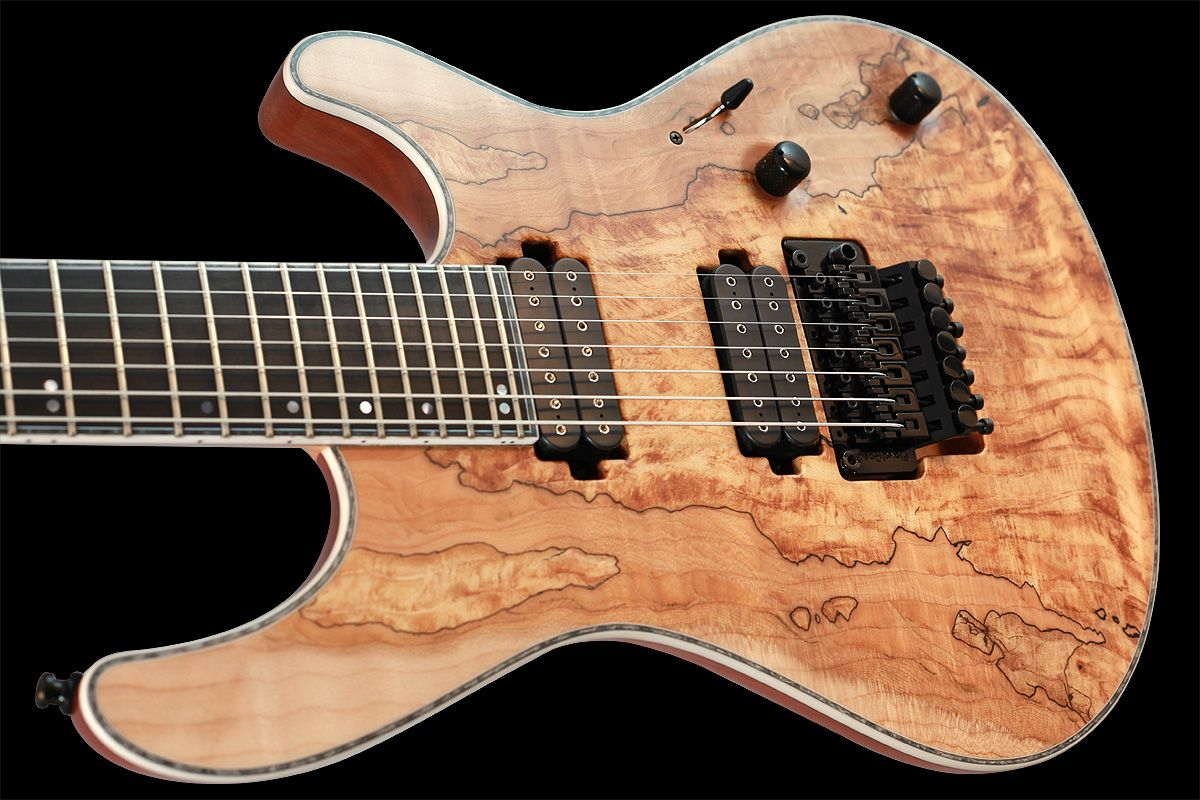 Mayones Regius Pro 7 with a spalted maple top