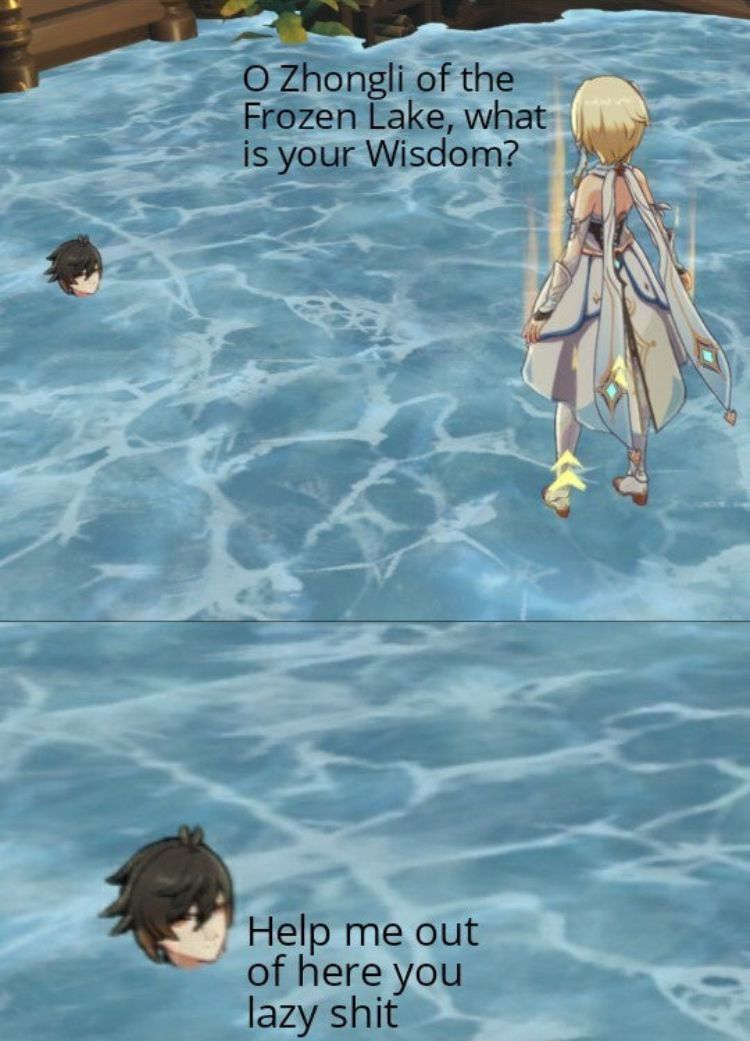 Genshin Impact Memes that increase my Stamina