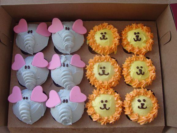 cute animal cupcakes mila pinterest lustige cupcakes kinder geburtstag und cupcakes. Black Bedroom Furniture Sets. Home Design Ideas