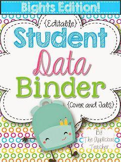 student data binder keep all the data organized school stuff