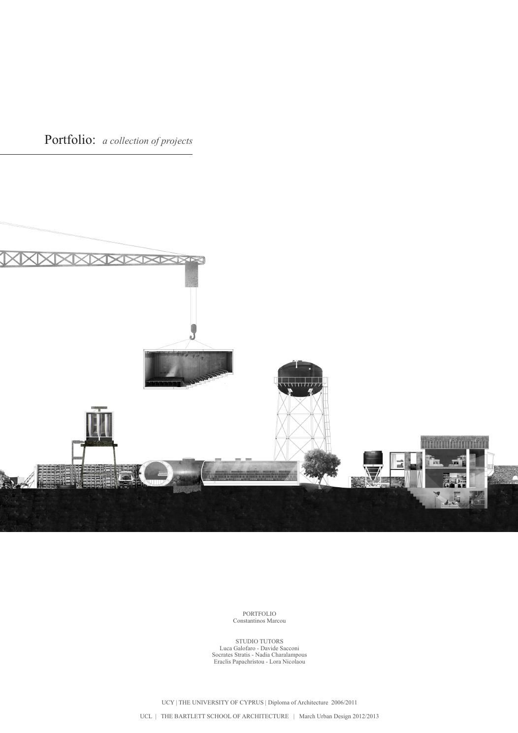 Architectural Portfolio: A collection of Projects by Constantinos ...