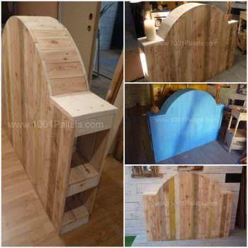 Tête De Lit En Bois De Palette - Pallet Bed Headboard From Upcycled Pallet Woord