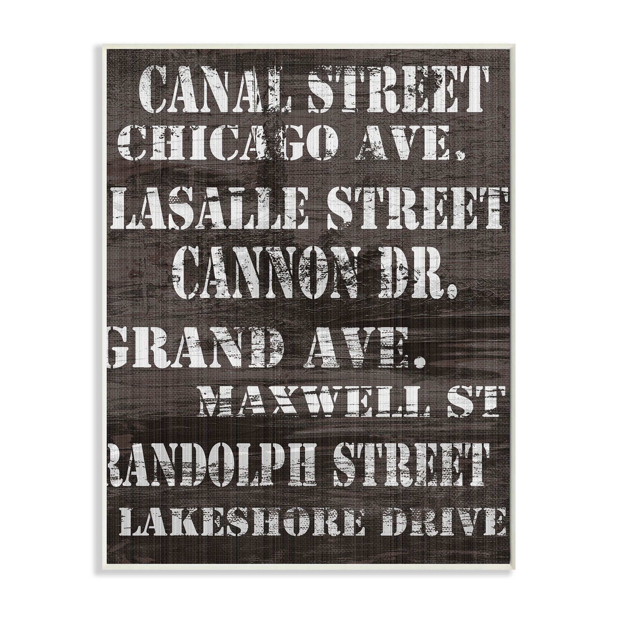 Stupell chicago streets ready to hang stretched canvas wall art