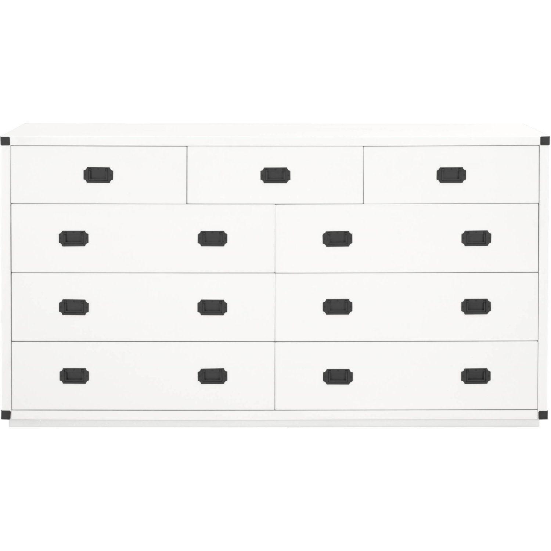 Essentials For Living 6133 Wht Blk Bradley 9 Drawer Media Dresser White Black Handles Media Dresser Drawers Black Handle [ 1500 x 1500 Pixel ]