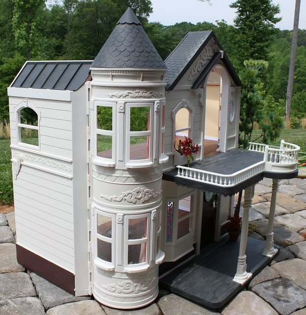Custom Re-Paint of Barbie's 1995 Victorian Dream House by Missypants, via Flickr