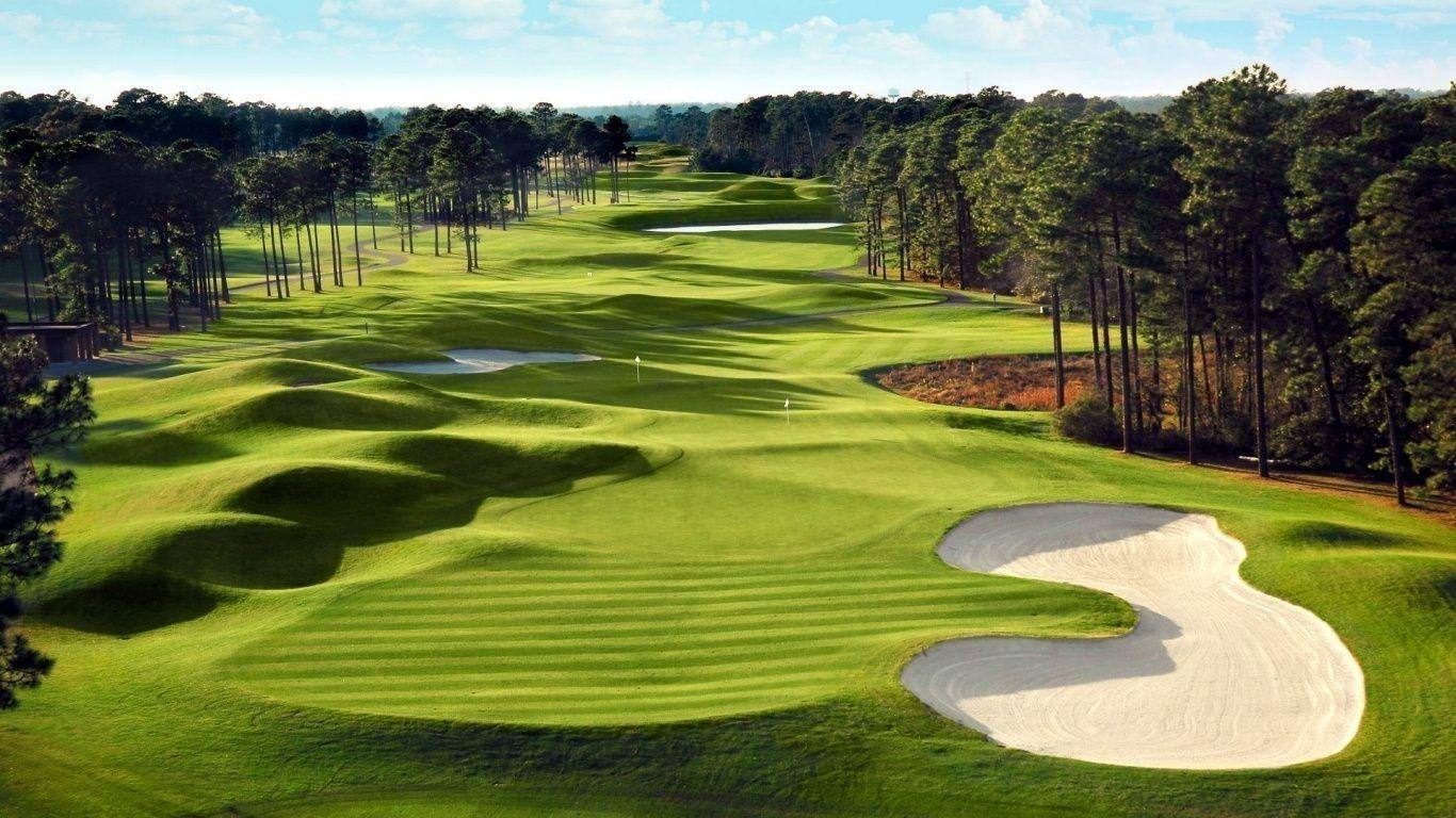 Golf Course Landscape HD Desktop Wallpaper for K Ultra HD TV