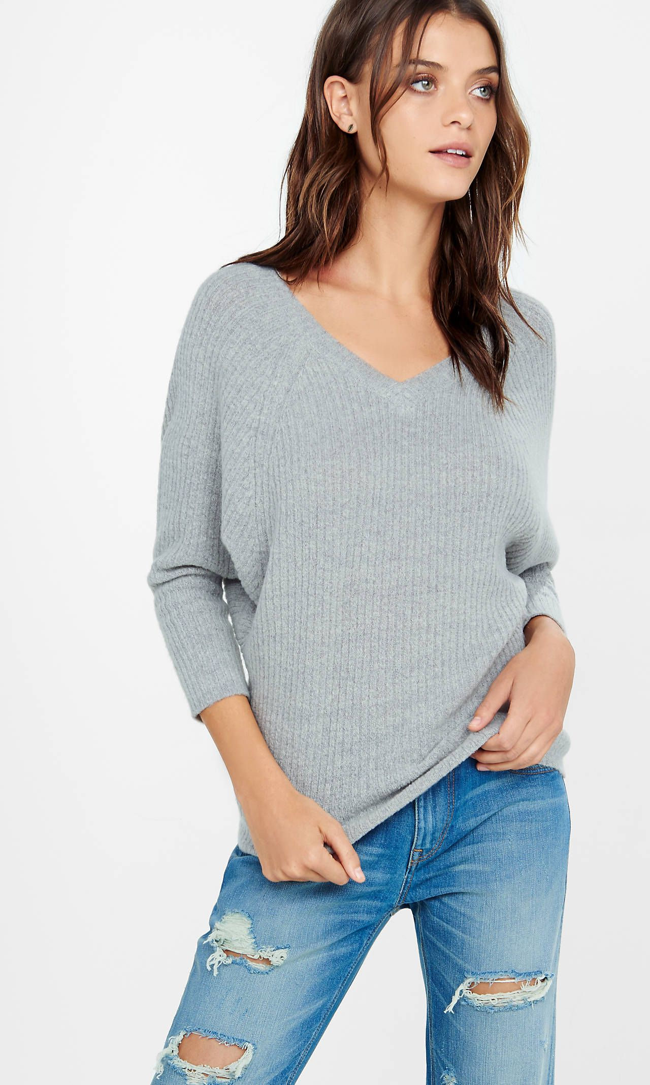Double V-neck Dolman Sweater from EXPRESS