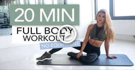 20 MIN FULL BODY WORKOUT // No Equipment | Pamela Rf #fitness