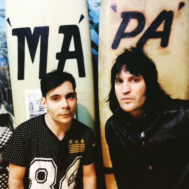 noel and mike in oz at surf museum