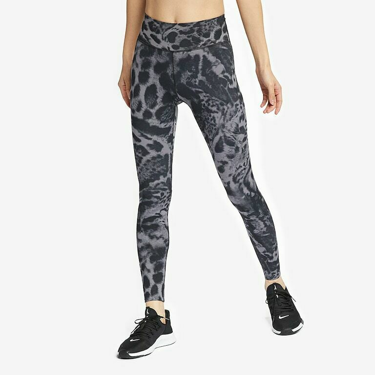 best website d0933 0a64d Nike women s all in one luxe tights DRI FIT AT5763-056 printed gunsmoke  black S  Nike  ActivewearLeggings