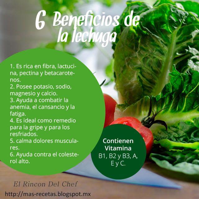 El Rincon Del Chef Beneficios De La Lechuga Beneficios De La Lechuga Nutrición Beneficios De Alimentos