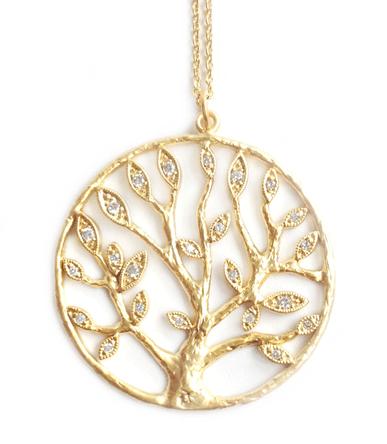 """wunderschön: vergoldete Halskette """"Tree of Life"""""""
