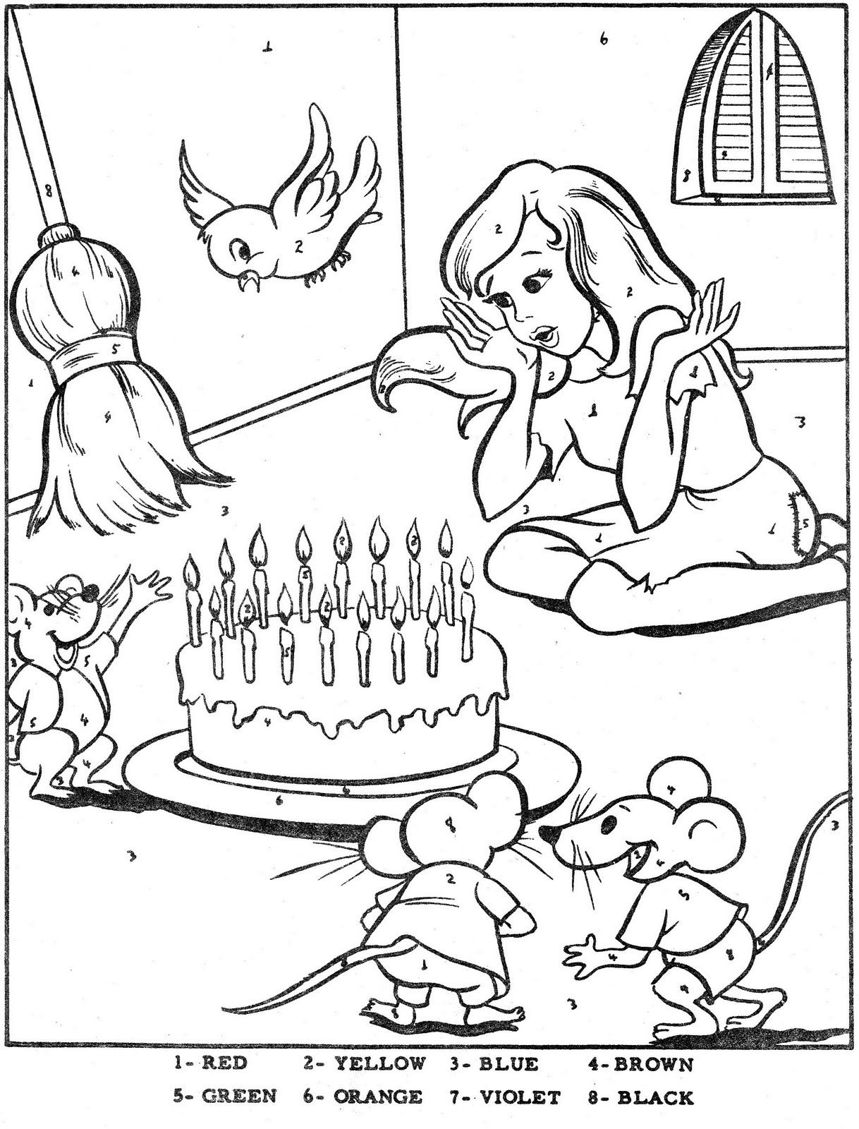Color By Number-Cinderella   coloring pages   Pinterest