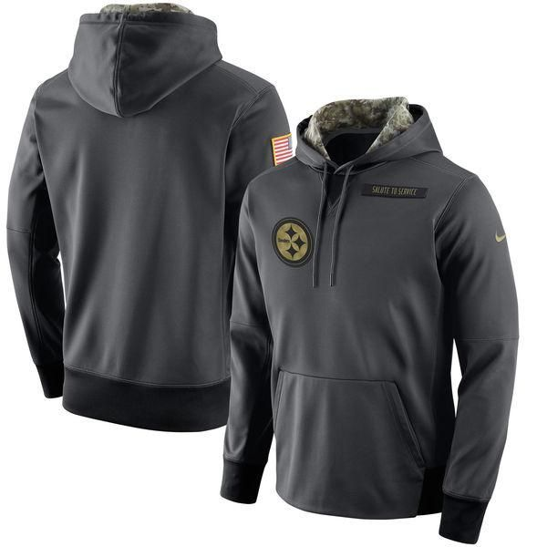 Pittsburgh Steelers Salute To Service Men's Pullover Sweatshirt  hot sale