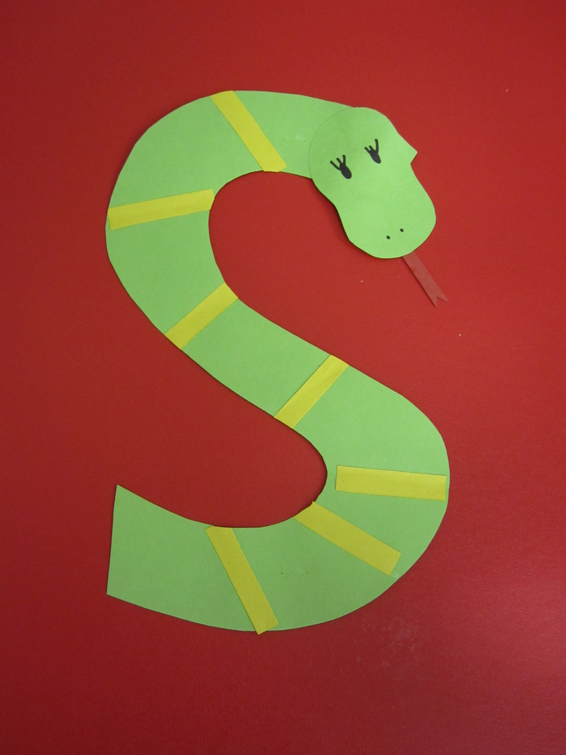 S Is For Snake Preschool Alphabet Craft